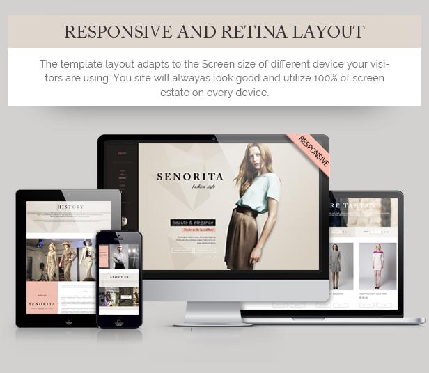 Senorita Responsive HTML Template